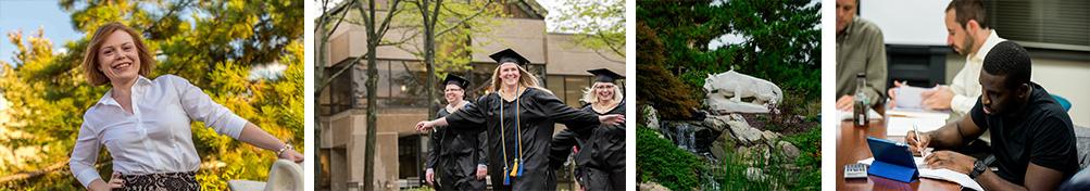 Collage of campus photos