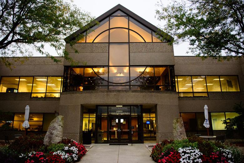 Photo of Main Building at dusk