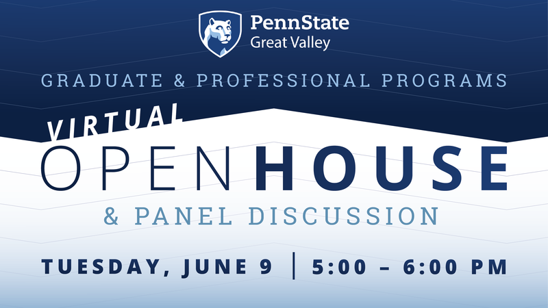 Graphic showing the time and date of our Virtual Open House