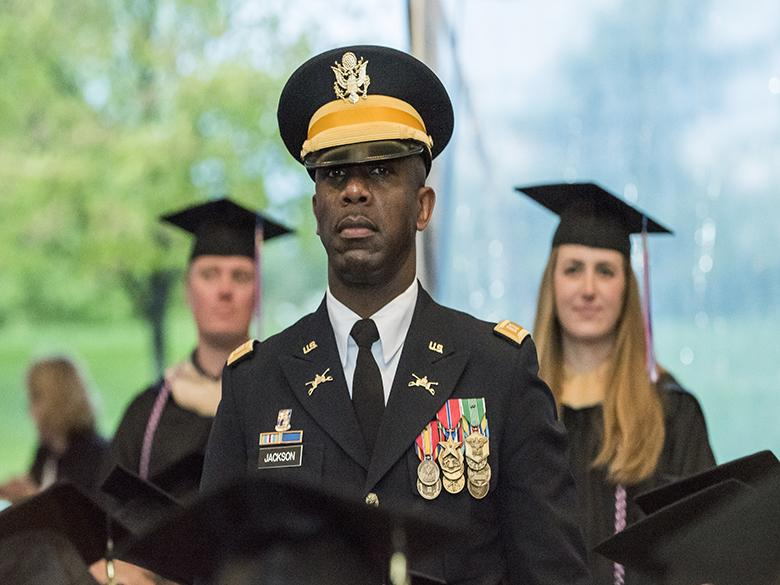 Photo of military grad