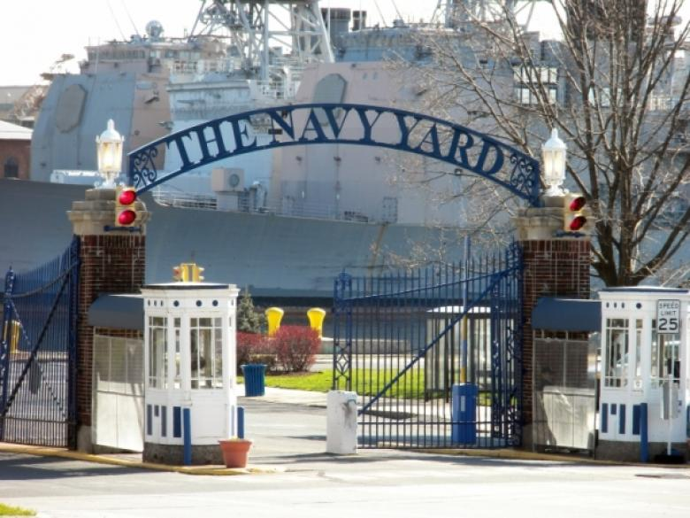 Photo of Navy Yard gate