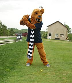 Lion golfing at Penn State Great Valley annual golf outing