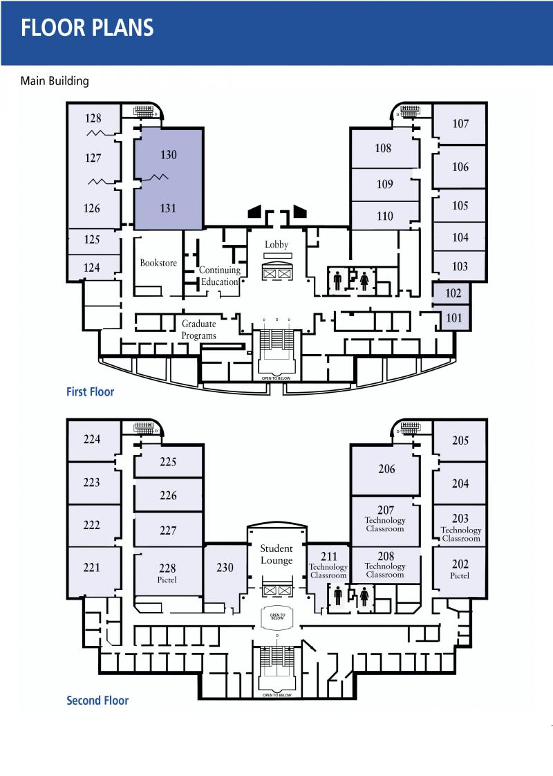 Drawing of Main Building floor plan