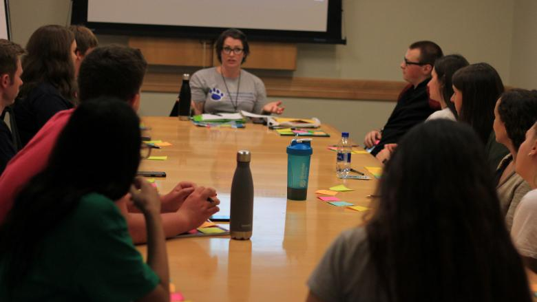 Penn State students participate in Pride Group discussions from other Penn State campuses