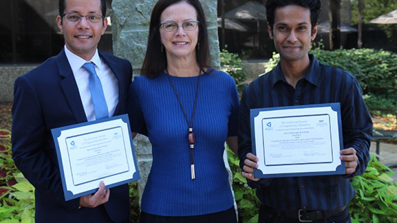Megahed, Jablokow, and Pachpute with ASEE awards