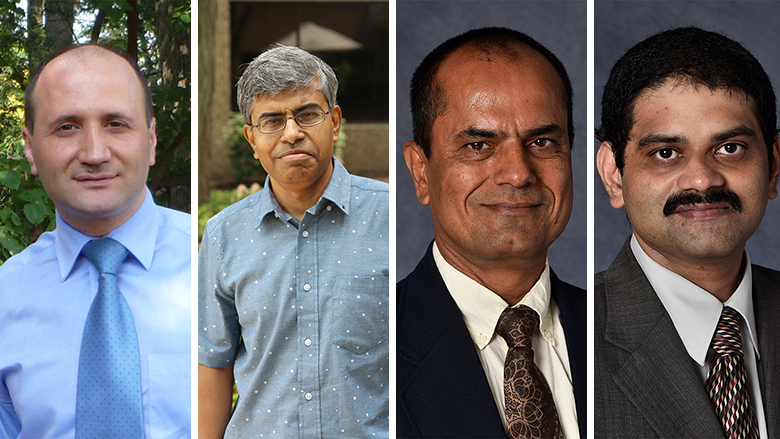 Headshots of Youakim Badr, Partha Mukherjee, Raghu Sangwan, and Satish Srinivasan