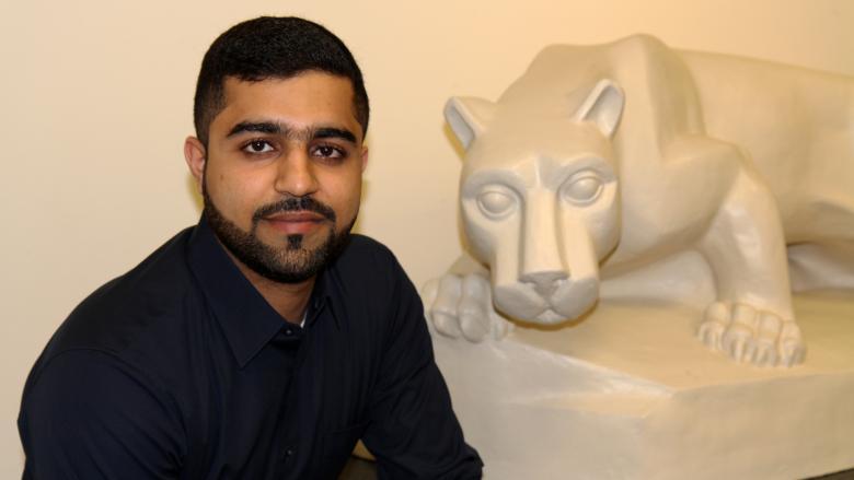 Master of Engineering Management student Nasr Mustafa.