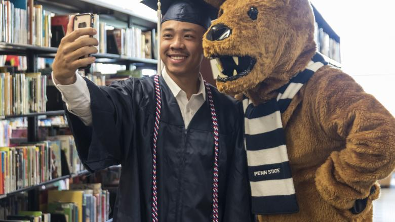 Penn State York Commencement 2019 lion